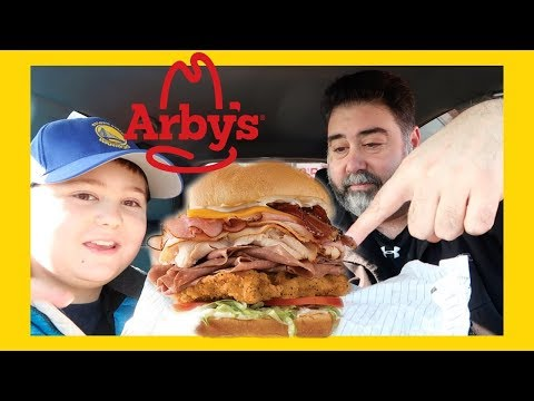 Arby's 5 Mega Meat Stack - Arby's ☆five Meat Mega Stack☆ Meat Mountain Jr! Food Review!!!