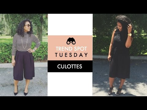 HOW TO STYLE CULOTTES | TREND SPOT TUESDAY