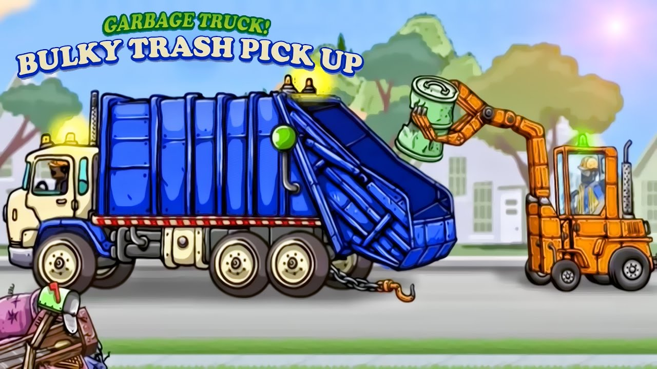 Garbage Truck Bulky Trash Pick Up Youtube