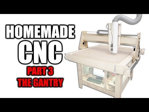 Homemade CNC Router Part 3 - Building the Gantry