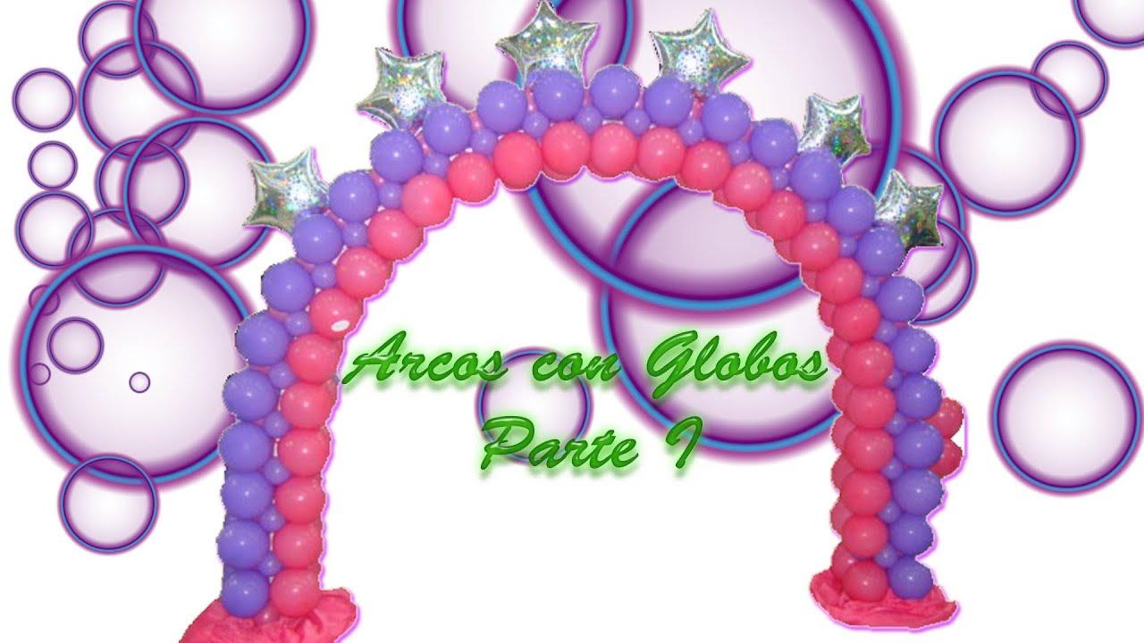 Arcos con globos parte i el lastre curso de globos - Como hacer figuras con globos ...