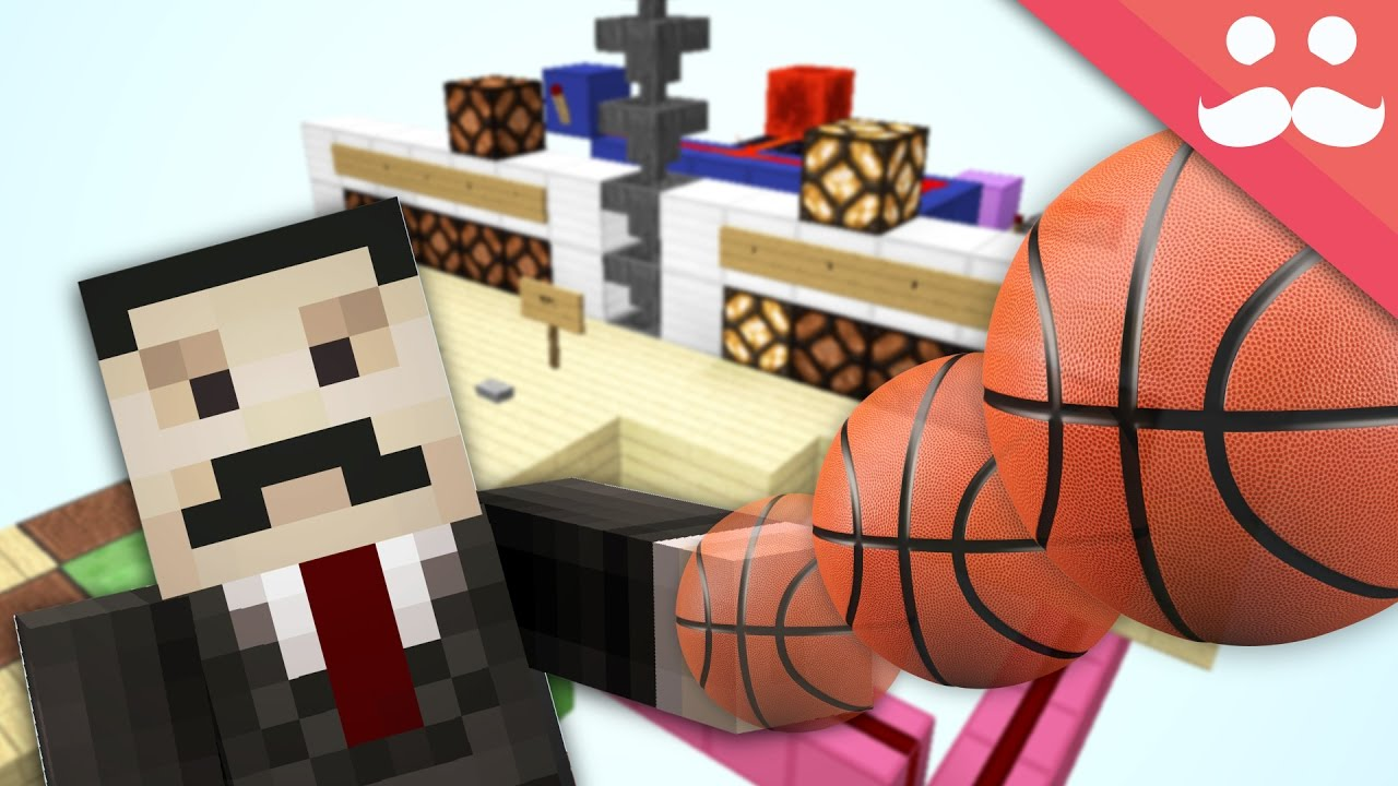 How to build a working basketball hoop in minecraft youtube for How to build a basketball goal