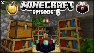 Creating A BEAUTIFUL Enchant Setup In Minecraft! | Python Plays Minecraft Survival [Episode 6]