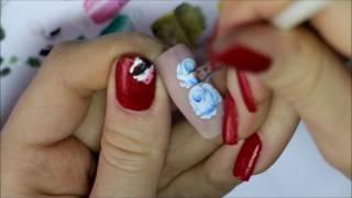 Мастер класс по росписи ногтей Роза. китайская роспись.