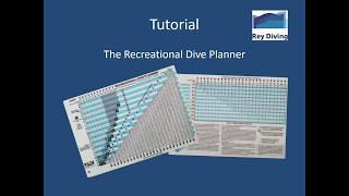 How to Work with the PADI Dive Planner Tutorial