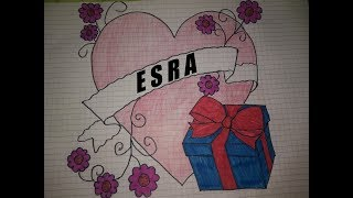 İsme özel Seni Seviyorum Esra