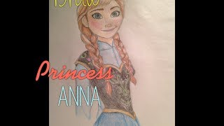 How to Draw Princess Anna from Frozen
