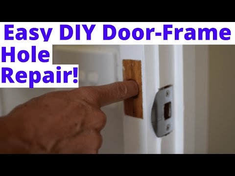 How To Repair a Small Hole In Your Door Frame. - YouTube