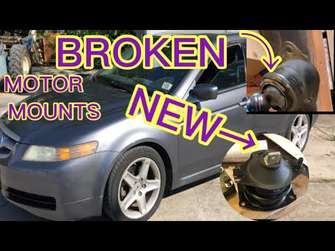 HOW TO REPLACE 2004-2008 ACURA/HONDA TL MOTOR AND TRANSMISSION MOUNTS EASY PLUS PARKING BRAKE SHOES