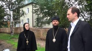 Begrüßung vor dem Nonnenkloster bei Birobidschan