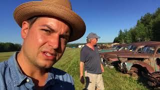 Junkyard cars and Summer farm auction! come along with us!