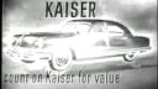 1950 Kaiser Cars TV Ad