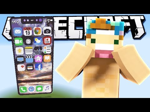 THE IPHONE X IN MINECRAFT!?