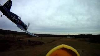RC airplane battle filmed