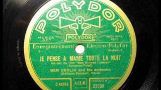 Je pense a Marie toute la nuit - Ben Berlin and his orchestra, 1930