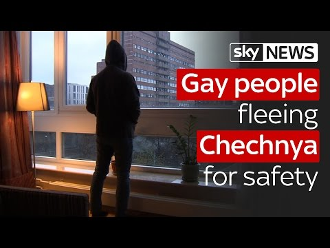 Gay man who fled Chechnya over fears for his life talks to Sky News