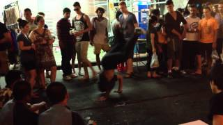 Young Teens Breakdancing on Kao San Road, Bangkok, Thailand