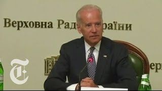 In Ukraine, Joe Biden Warns of