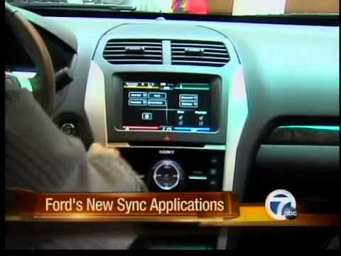 ford unveils new sync apps youtube. Black Bedroom Furniture Sets. Home Design Ideas