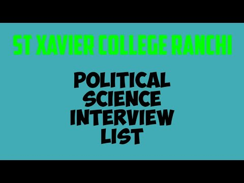 Political Science Interview //list Of Students For Interview//how To Give Interview All Details Xavi