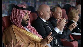 Vladimir Putin reaction to Russia 1st World Cup goal against Saudi Arabia