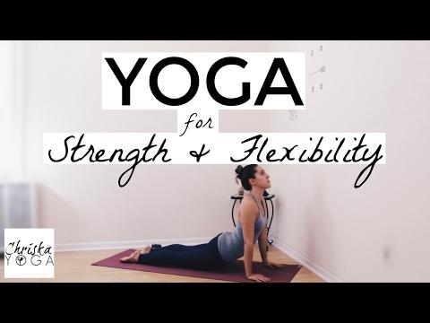 Yoga For Strength and Flexibility - 20 Min Hatha Yoga - Iyengar Yoga Style - Strong Beginner
