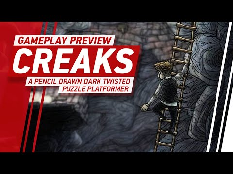 Creaks Gameplay - Amanita's Dark & Twisted Puzzle Platformer