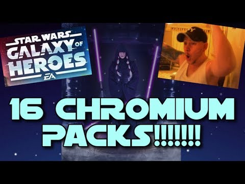 Star Wars - Galaxy Of Heroes #11: SIXTEEN CHROMIUM PACKS!!! 6 NEW CHARACTERS!!!