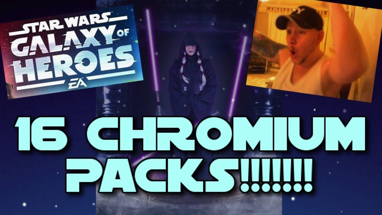 Star Wars - Galaxy Of Heroes #11: SIXTEEN CHROMIUM PACKS!!! 6 NEW  CHARACTERS!!!