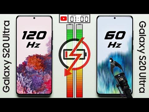 120 Hz vs. 60 Hz Battery Test
