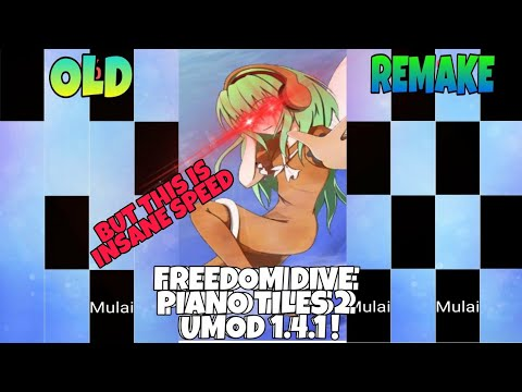 Piano Tiles 2 Mod - Insane Freedom Dive (remake) 1 Crown Gameplay With Internal Audio :)
