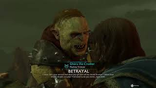Shadow of War : The nastiness of my first blood brother defense