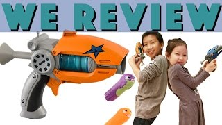 Chris and Maddy get ready for battle with Slugterra Blasters in 4k! - Toy Review