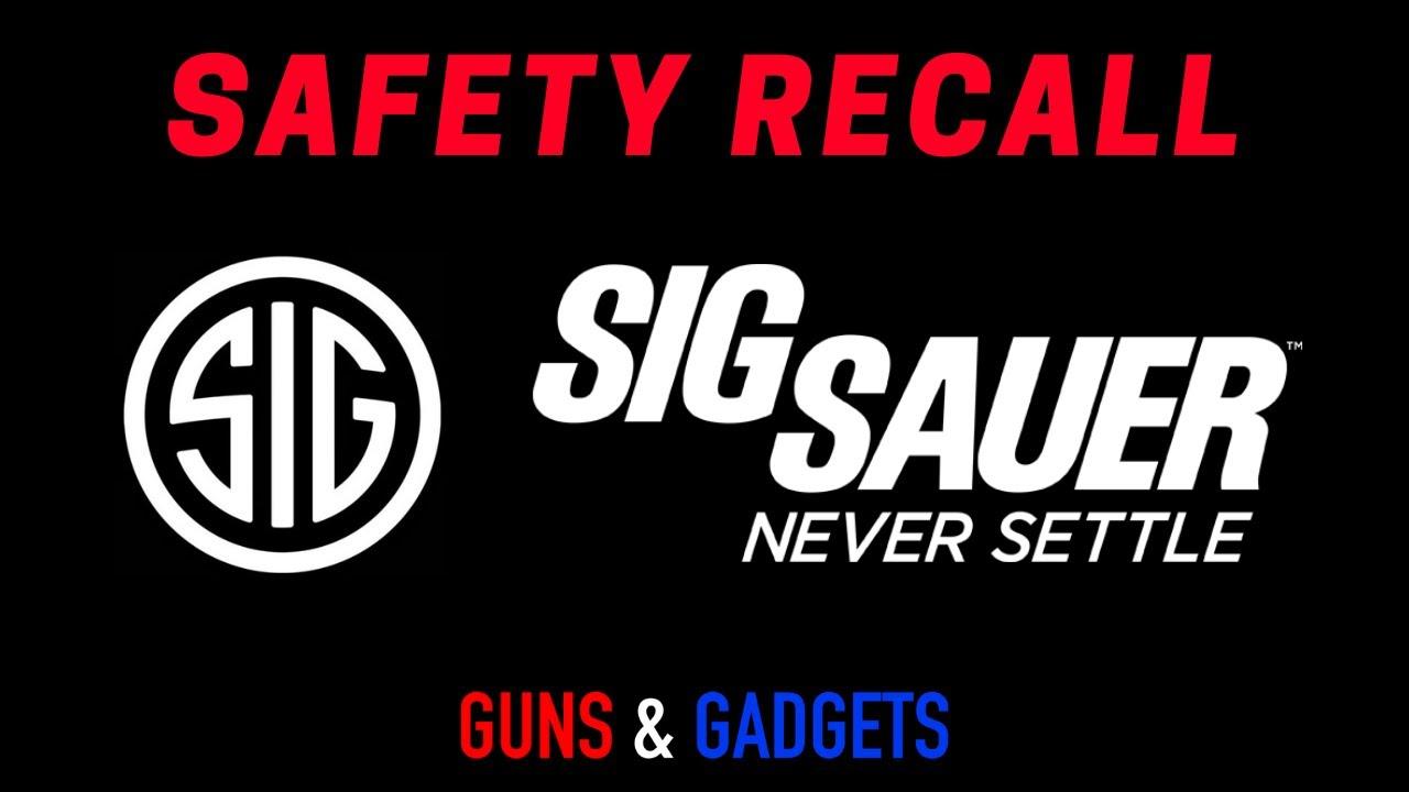 Sig Sauer Safety Recall