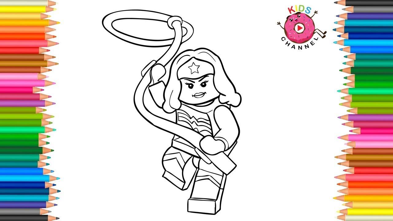 How to Draw Wonder Woman Lego | Super Heroes | Wonder ...