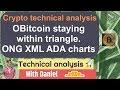 BTC - Bitcoin Technical Analysis. XLM ONG and ADA chart setups.