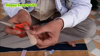 Correct Way to Use Band Aid Bandage on Curve Body Parts