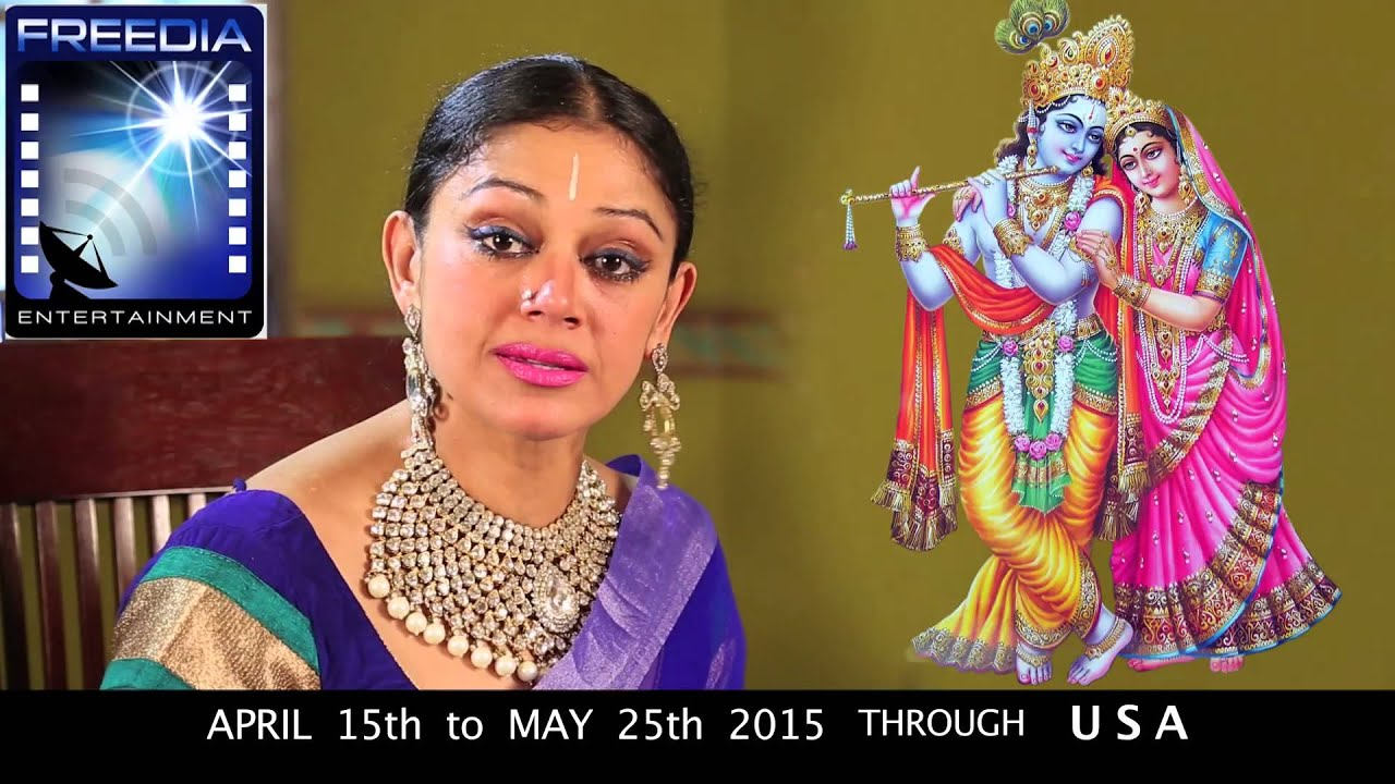shobana on quotkrishnaquot tour of usa youtube