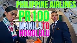 PHILIPPINE AIRLINES FLIGHT REPORT | PR100 | MANILA TO HONOLULU | ECONOMY CLASS