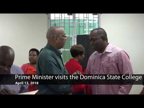 Apr. 12 - Prime Minister Roosevelt Skerrit visits the Dominica State College