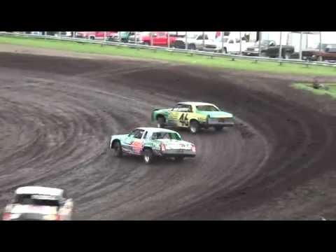 IMCA Hobby Stock Heats Benton County Speedway 7/24/16