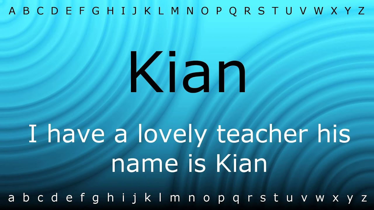 The meaning of the name keyan - How To Say Kian With Zira Mp4 Pronounce Names