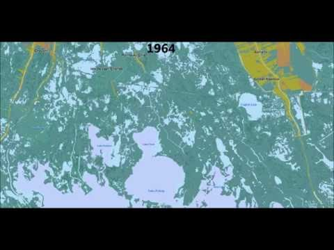 100 Years of Land Loss in South Louisiana