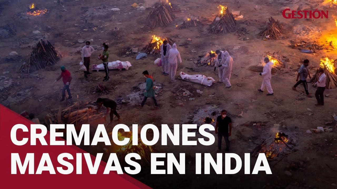Coronavirus: INDIA inicia cremaciones masivas tras segunda ola de COVID-19 - YouTube