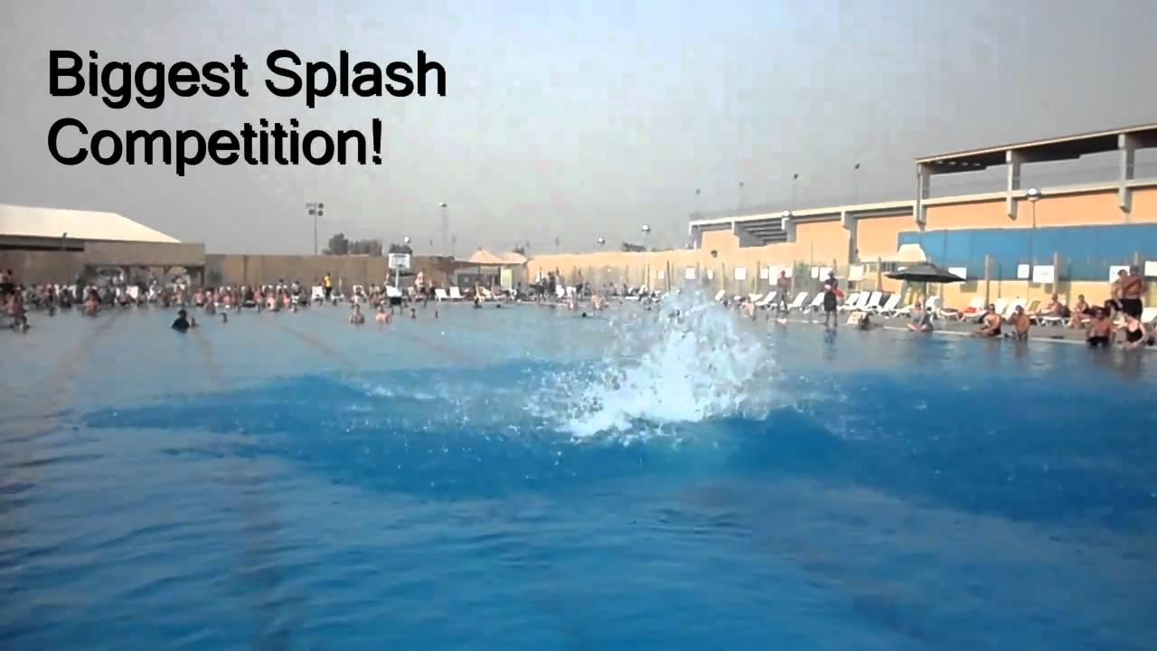 Pool Splash Cannonball the biggest splash cannonball contest - youtube