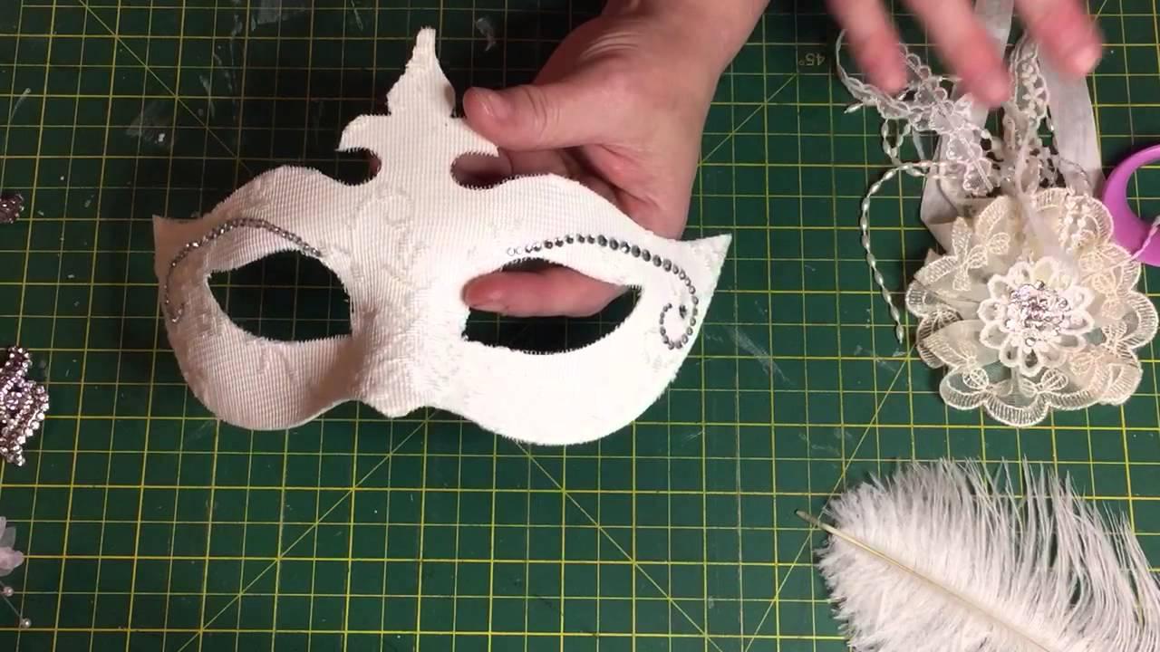 Beautiful Venetian Mask Tutorial Part One Youtube