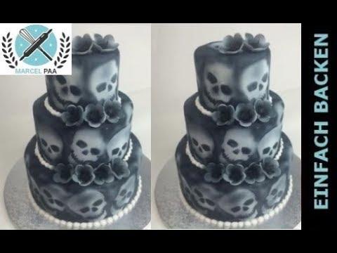 3 Stockige Totenkopf Torte Skull Cake Youtube