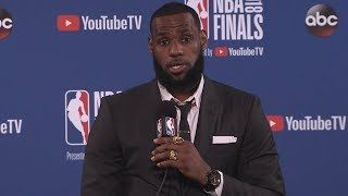 lebron james postgame interview game 1 cavaliers vs warriors may 31 2018 2018 nba finals