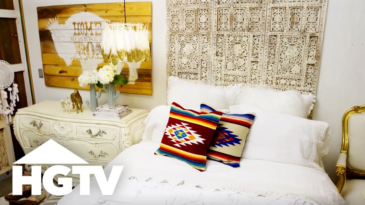 How To Design A Junk Gypsy Dream Bedroom   The Find U0026 The Fix   HGTV