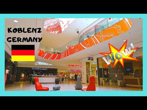 GERMANY: The spectacular FORUM SHOPPING MALL in  KOBLENZ